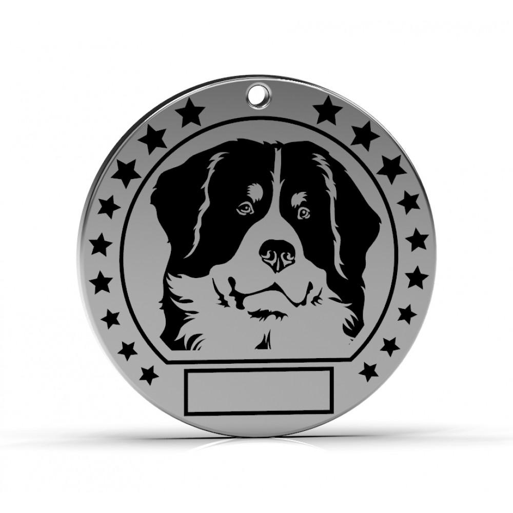 """Серебряный адресник для собак """"Бернский зенненхунд"""""""