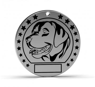 """Серебряный адресник для собак """"Лабрадор"""""""